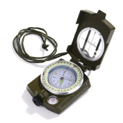 Gwhole Compass Waterproof Hiking Military Navigation Compass With Pouch