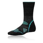 Smartwool Womens Phd Outdoor Black Light Realiwool Mid Height Running Socks