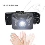 Hihill Head Torch With Ir Sensor Switch, 4 Modes, Waterproof, Adjustable