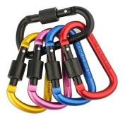 Zendy Aluminium Clip Lock D-ring Locking Carabiner Keychain Spring Clip Lock Hook