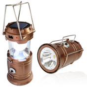 The Texsens Ultra Bright Camping Lantern, Solar Rechargeable Led Camp Light & In