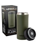 Kombat Uk Green Ammo Pouch Flask Stainless Steel Bushcraft Survival Edc Military