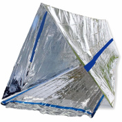 Blizetec Emergency Bivy Sack Mylar Thermal Survival Blanket And Tube Tent With