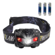 Stct Waterproof Red Light Led Head Torch, Light Weight High Adjustable
