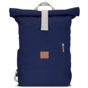 Johnny Urban Roll Top Backpack From Cotton Canvas - Blue - Durable High