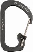 Nite Ize CSLA3-09-R6 Charcoal Aluminium No.3 Slidelock Carabiner 11kg Capacity