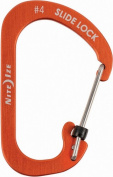 Nite Ize CSLA4-19-R6 Orange Aluminium No.4 Slidelock Carabiner 34kg Capacity