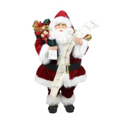 0.9m Standing Santa Claus with Naughty or Nice List and Bag of Presents Christmas Figure