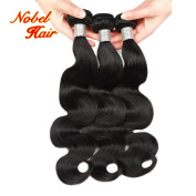 Nobel Hair Brazilian Virgin Hair Body Wave Human Hair 3Bundles Weaves 100% Unprocessed Hair Extensions Natural Colour