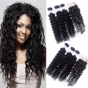 Malaysian Water Wave Virgin Hair With Closure 3 Bundles With Closure Water Wave Virgin Hair Weave Unprocessed Human Hair Bundles With Closure