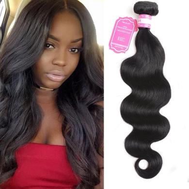 Brazilian Body Wave Human Hair Bundles Unprocessed 100% Remy Human Hair Wave 1 PCS Body Wave 100G Natural Black Hair Double Weft 20cm