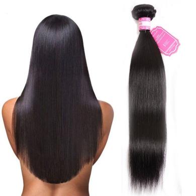 7A Brazilian Hair Striaght Human Hair Extensions One Bundle Unprocessed Vrigin Straight Hair Bundles Double Weft 1b# Colour 100g/pc 20cm