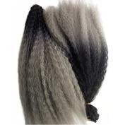 Esprit Beauty Synthetic Afro Kinky Twist Curly Hair Bulk Crochet Braids Extensions 4pcs 60cm Dark Grey Ombre Marley Hair