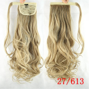 Jackcsale 60cm Long Curly Wrap Around Ponytail Hair Extension Synthetic Wig Hair Hairpiece 27/613