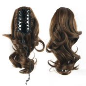 Jackcsale 36cm Short Curly Claw Clip In On Ponytail Hair Extension Synthetic Wig Hair Hairpiece 2/30
