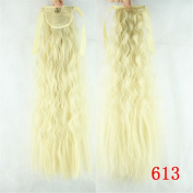 Jackcsale 60cm Long Corn Curly Wrap Around Ponytail Hair Extension Synthetic Wig Hair Hairpiece 613
