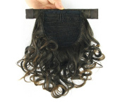 Jackcsale 25cm Short Curly Wrap Around Ponytail Hair Extension Clip In Synthetic Wig Hair Hairpiece 4011