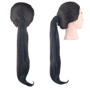 Jackcsale 50cm Long Straight Wrap Around Ponytail Hair Extension Synthetic Wig Hair Hairpiece 4005