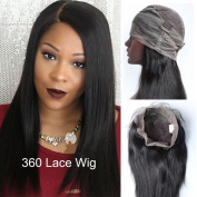 Pre Plucked 360 Lace Frontal Wig with Baby Hair 180% Density Brazilian Straight Hair Lace Wigs 100% Human Hair Lace Frontal 360 Wigs Straight Natural Colour