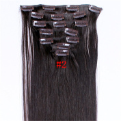 Full Head Clip in Hair Extensions 100Grams Thick Real Natural Synthetic HairpieceFull Head