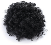 Onedor African American Afro Short Kinky Curly Wrap Drawstring Puff Ponytail Extension