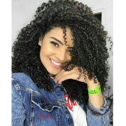 Synthetic Afro Kinky Curly Wigs for Black Women African American Heat Resistant Long Hair