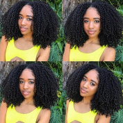 Glueless Curly Human Hair Lace Front Wigs 150 Density Brazilian Short Lace Wig with Baby Hair For African Americans Natural Colour