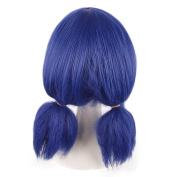 ColorGround Half Dark Blue BugGirl Cosplay Wig for Halloween