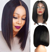 Friya Hair 8A Brazilian Full Lace Human Hair Wigs Bob Straight Lace Front Human Hair Wigs Pre Plucked Hairline With Baby Hair 8-26 Virgin Hair Wigs For Black Women