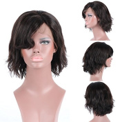 Friya Hair 8A Brazilian Full Lace Human Hair Wigs Short Bob Wave Lace Front Human Hair Wigs Pre Plucked Hairline With Baby Hair Virgin Hair Wigs For Black Women