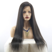 MeiRun Silk Base Human Hair Wigs 150% Density Silk Base Lace Front Wig For Women Full Lace Wigs Straight Virgin Hair Wig With Baby Hair Natural Black
