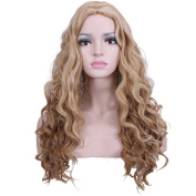 Deifor Blonde Ombre Long Curly Afro Style Braids Hair Heat Resistant Hair Cosplay Wigs