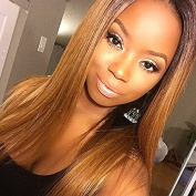 RosesAngel #4/#33 Ombre Human Hair Wig for Black Women Straight Human Hair Wigs Glueless Lace Frontal Wig Bleached Knots Full Lace Wig 60cm Lace Front Wig