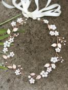 Missgrace Bridal Fashion Rose Gold Crystal Hair Vine Wedding Vintage Headpiece Women Leaf Headband Hair Accessory