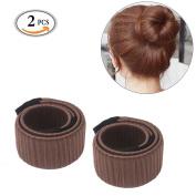 KINGZHUO Fashion Women Hair Bun Maker Tool For Donut Doughnut Bun French Twist Girls Hair Styling Curler Curling DIY Clip