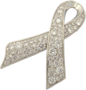 Brooch, Awareness Silver Plated Rhinestone Pin+ FREE GIFT BAG
