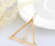 DALAI 3pcs Alloy Golden Triangle Moon and 8 Shape Hairpin Side Clip Hair Styling Accessories