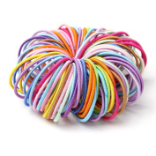 Munax Babys Girls Kids Small Size Hair Bands Elastics Toddler No Crease Ponytail Holders Tiny Rubber Bands No Aches Durable Hair Accessories hair ties, Muticolor 200PCS