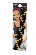 Pomchies Multi Colour Pom Braid Headband, Black/Yellow Gold