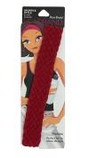 Pomchies Pom Braid Headband, Solid Crimson