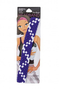 Pomchies Multi Colour Pom Braid Headband, Purple/White