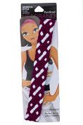 Pomchies Multi Colour Pom Braid Headband, Burgundy/White