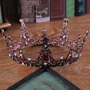 Venusvi Vintage Baroco Style Wedding Crystal Crown for Bride
