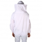 Solid Colour New Large Beekeeping Bee Keeping Jacket Clothes Pull Over Smock with Veil