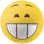 Hedstrom 22cm Emoti Rubber Playground Ball, Excited
