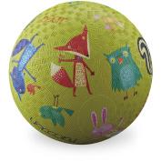Crocodile Creek Woodland Animals Playground Ball, 18cm , Lime Green