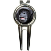 Chimpanzee Chimp/Ape Monkey Golf Divot Repair Tool and Ball Marker
