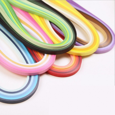 36 Colours 720 Strips Quilling Paper Strips Kit ( Width 3mm ,Length 54cm )