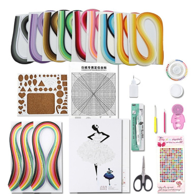 YURROAD Paper Quilling Kit with 12pcs Quilling Tools and 1620 Paper Strips