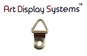 ADS 1 Hole Triangle ZP D-Ring Hanger – No Screws – Pro Quality – 100 Pack by ART DISPLAY SYSTEMS